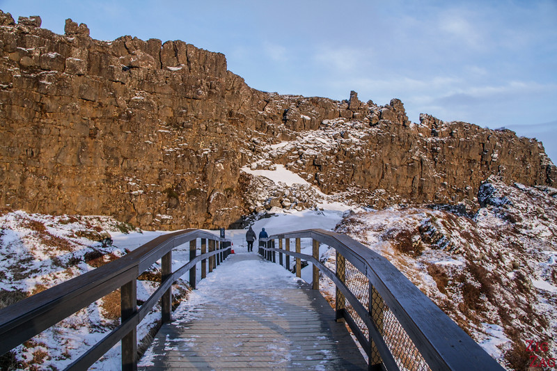 Aussichtsplattform - Lögberg - Thingvellir Nationalpark im Winter 3