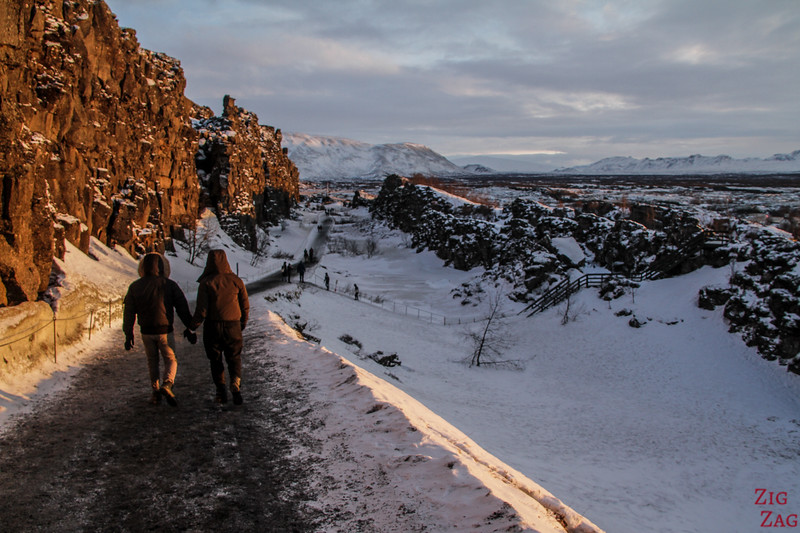 Almannagja-Schlucht Thingvellir winter 3