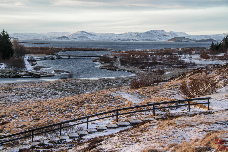 Aussichtsplattform - Lögberg - Thingvellir Nationalpark im Winter