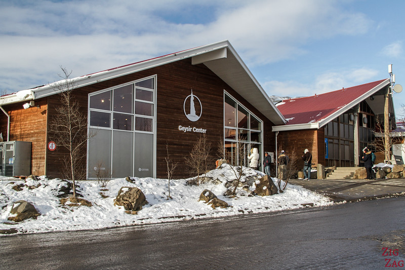 Geysir visitor center in Winter