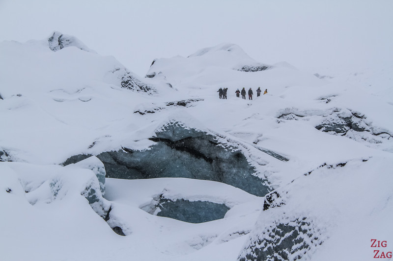 Glacier walk - iceland in Winter