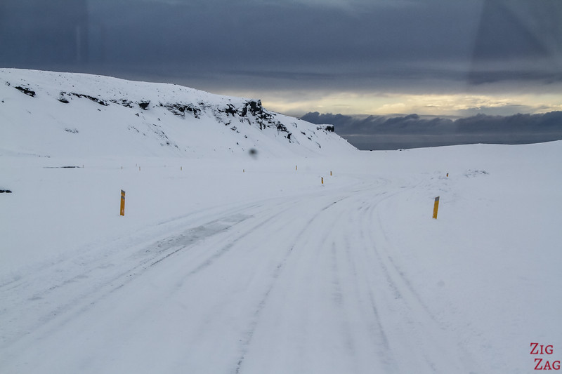 Road conditions Iceland in Winter