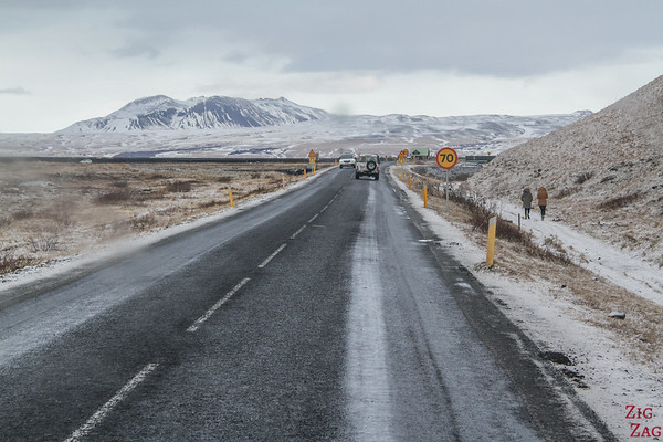 Road to Seljalandsfoss