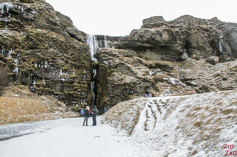 Gljufrafoss in Winter