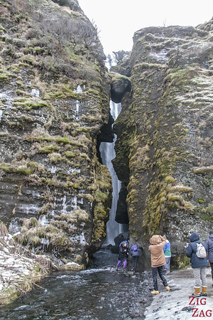cascade de Gljufrabui en hiver 2