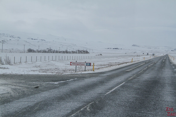 Winter Road to Skogafoss Iceland 1