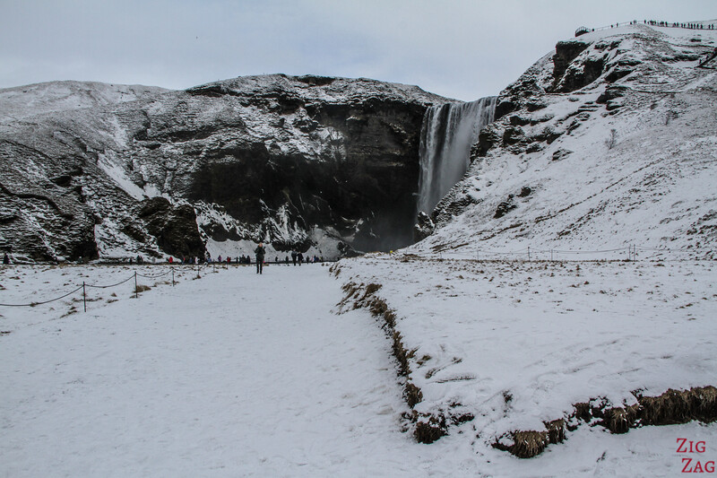 Access to Skogafoss in Winter