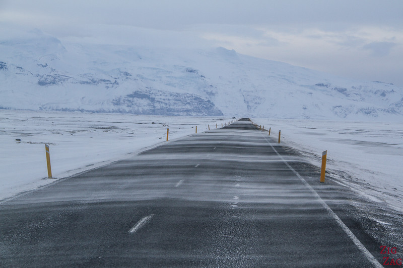 Driving Iceland South Coast Winter photo 3
