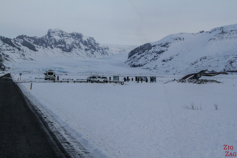 Driving Iceland South Coast Winter photo carpark