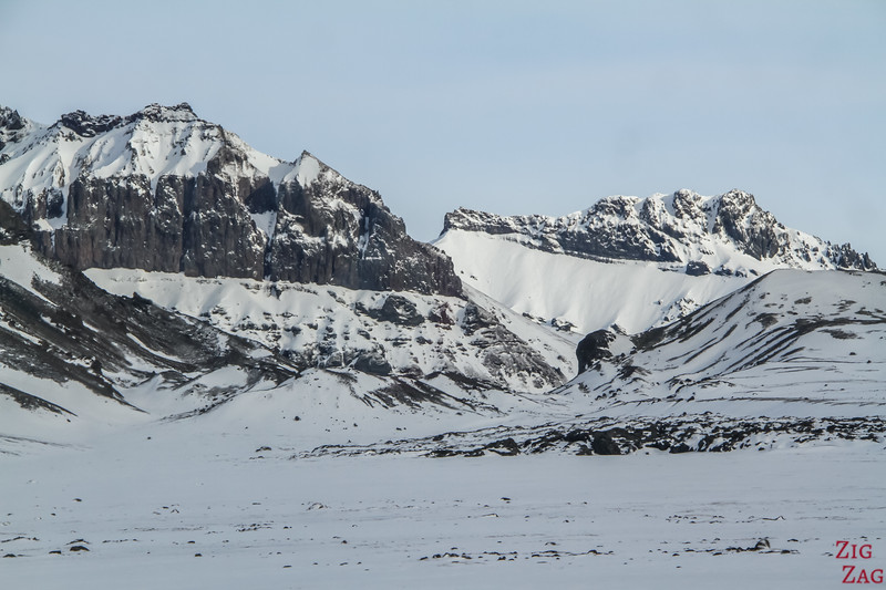 South Coast of Iceland in Winter - mountain