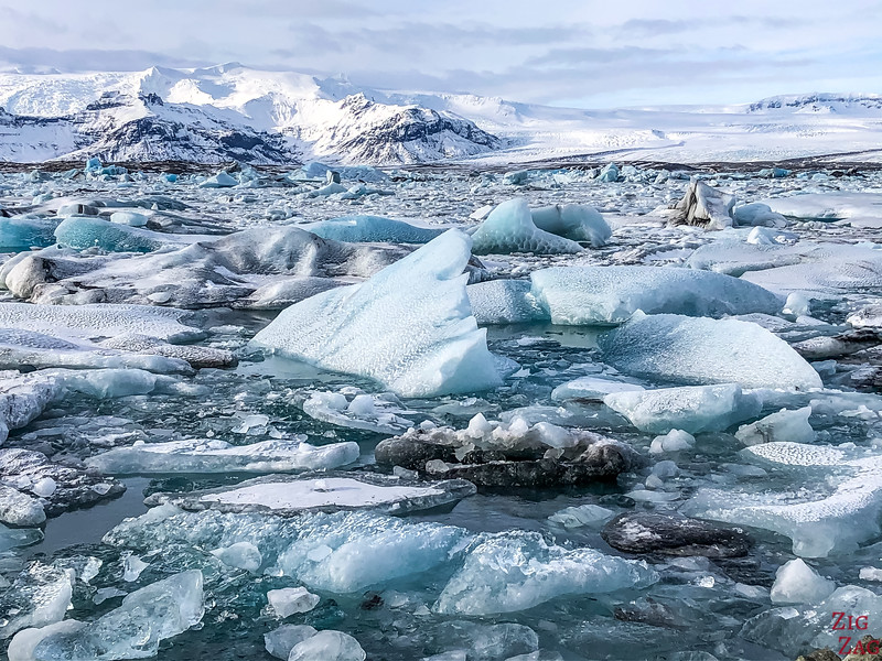 Jokulsarlon Glacier Lagoon in Winter 2