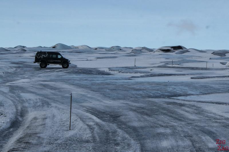 Zugang zur Gletscherhöhle