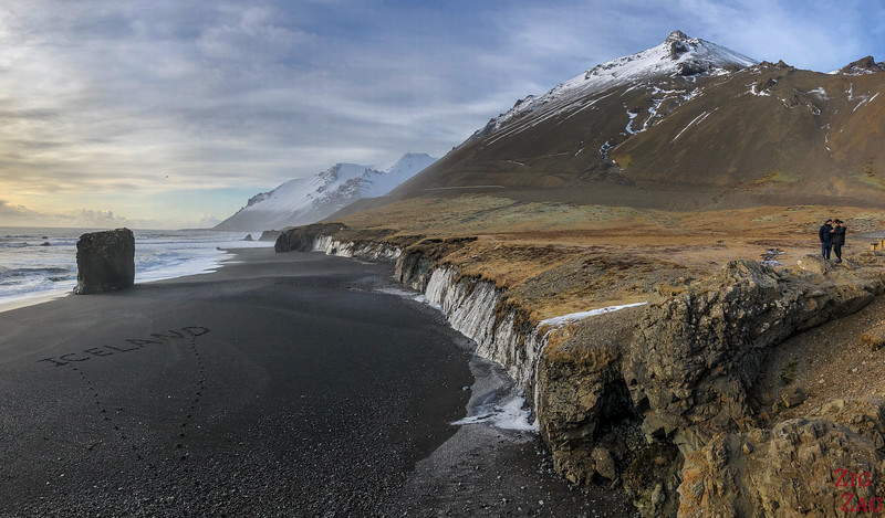 Fauskasandur black sand beach- where to go in Iceland in Winter