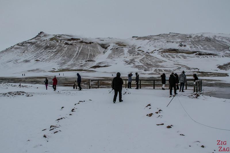Geothermal area of Hverir in Winter 3