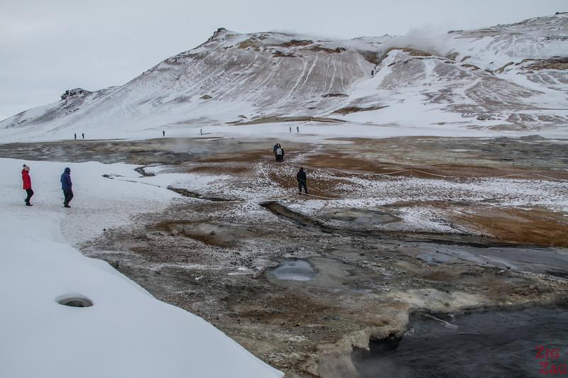 Geothermisches Gebiet Hverir im Winter - Top Myvatn Sehenswürdigkeiten 1