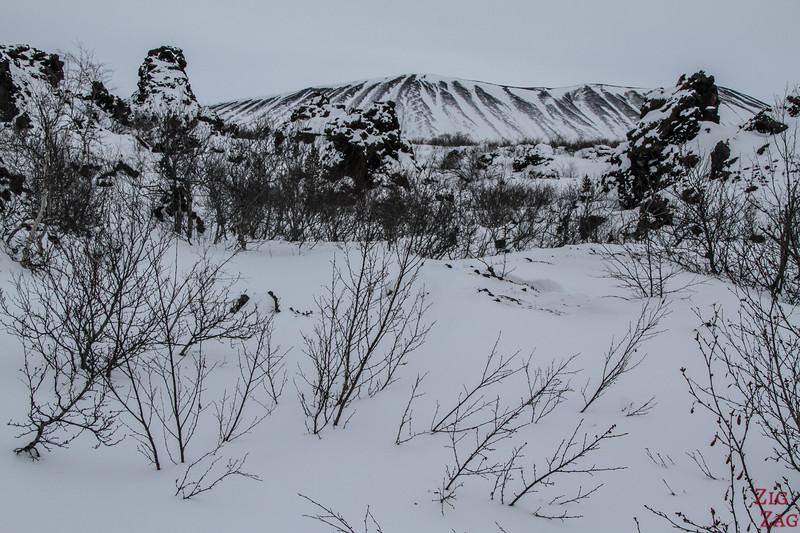 cratère Hverfjall en hiver