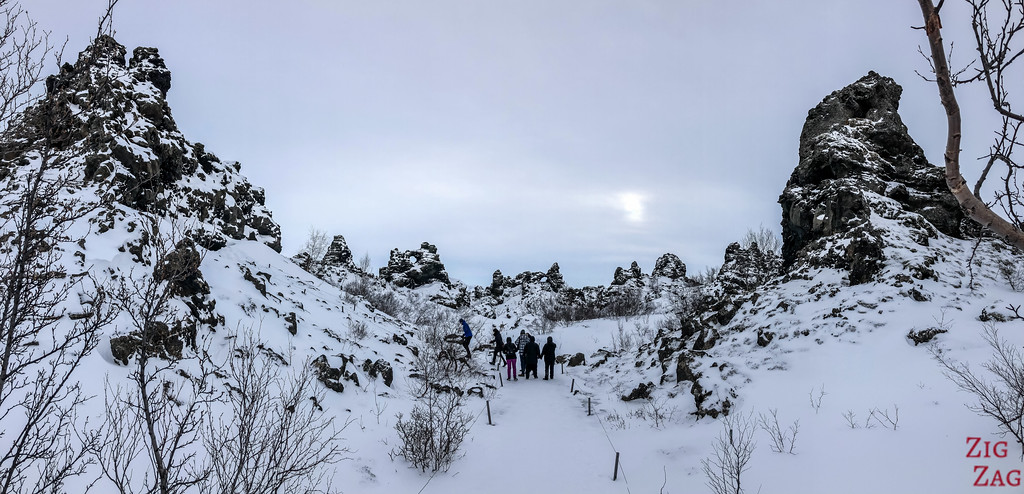 visit Dimmuborgir in Winter