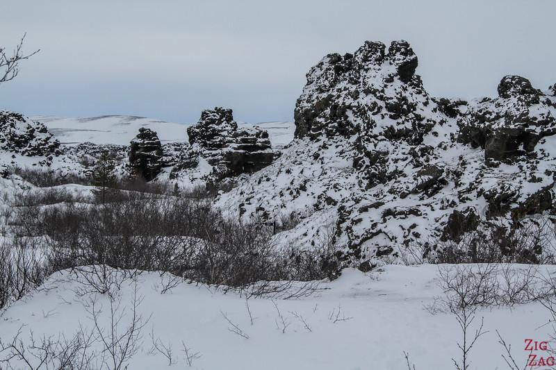 Formations de lave de Dimmuborgir en hiver - photo 2