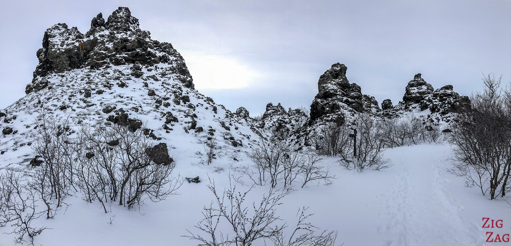 Dimmuborgir under the snow 5