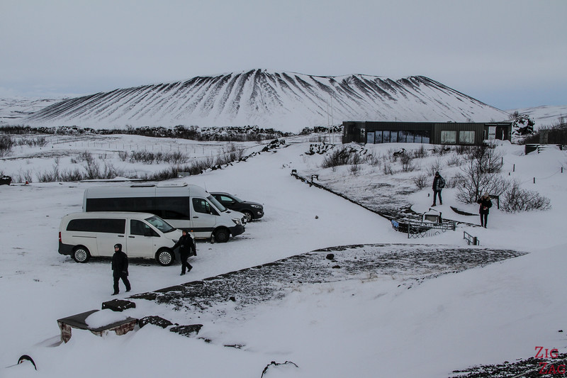 Dimmuborgir carpark in Winter