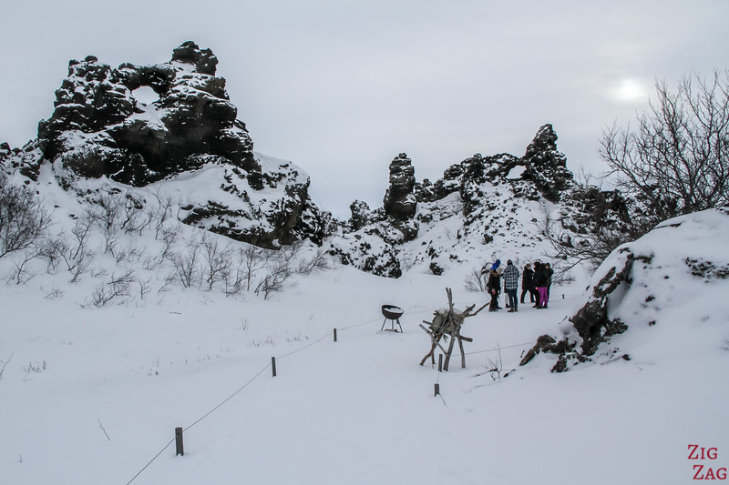 Dimmuborgir under the snow 2
