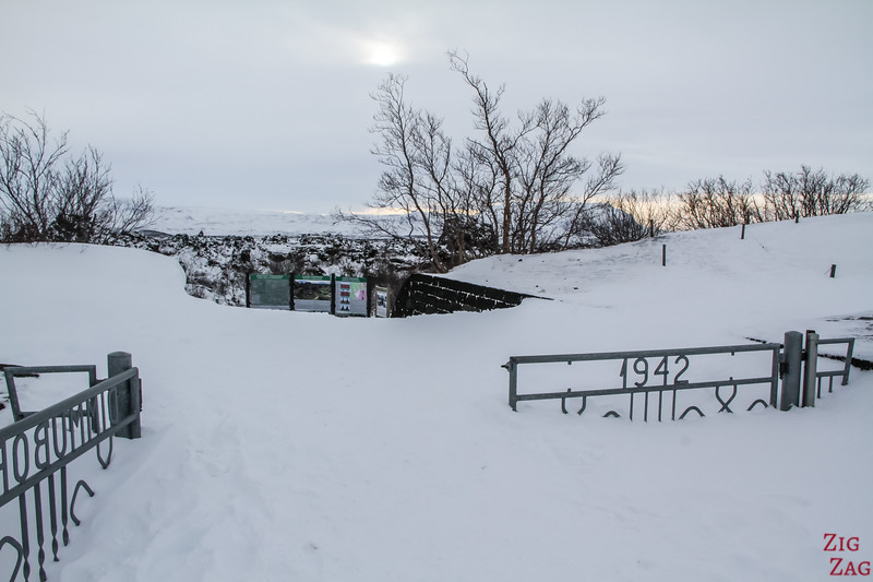 Winter access to Dimmuborgir