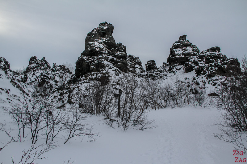 Dimmuborgir under the snow 4
