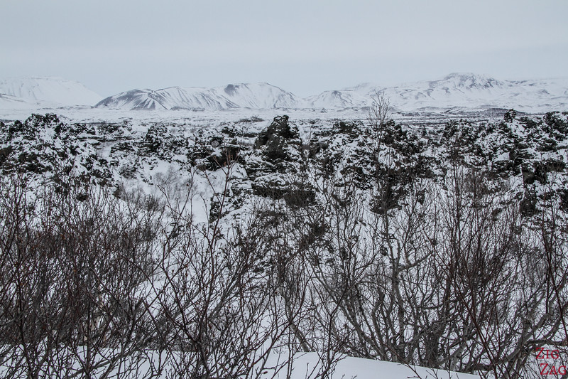 Dimmuborgir lava field in Winter 3