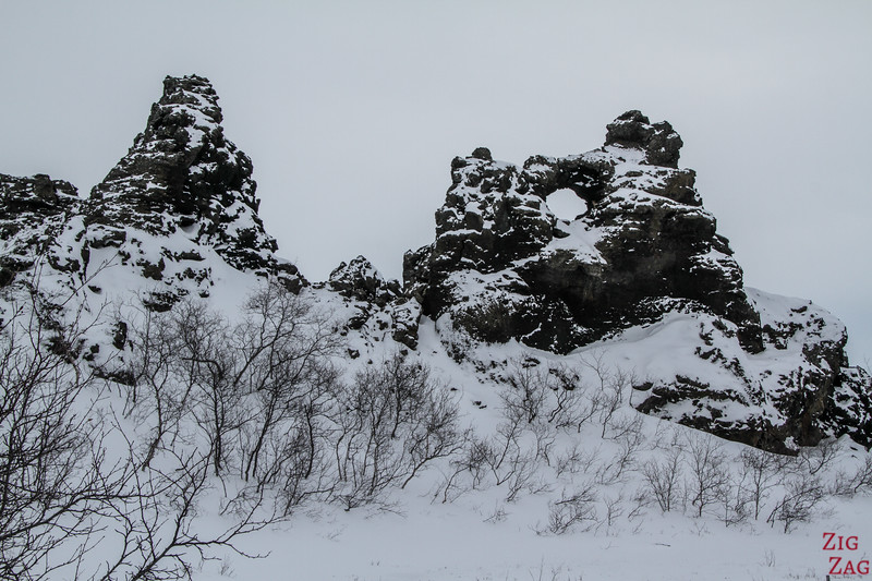 Dimmuborgir under the snow 3