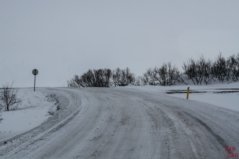 Dimmuborgir road in Winter