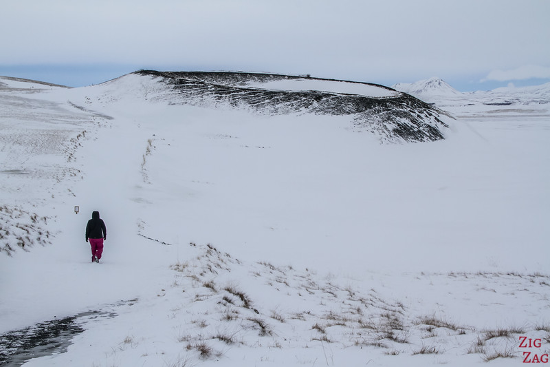 Pseudocraters Myvatn in Winter