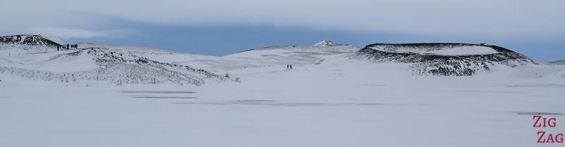 Pseudocraters of Skutustadagigar in Winter 2