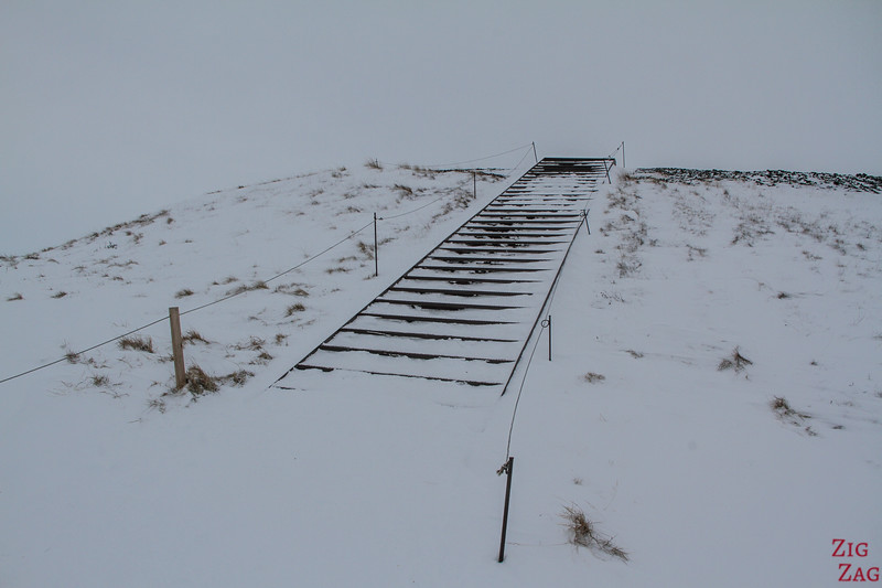 Pseudocraters of Skutustadagigar in Winter access