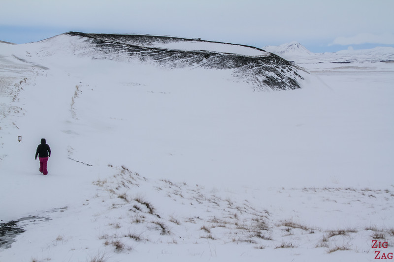Myvatn pseudo crater - What to do in Iceland in Winter