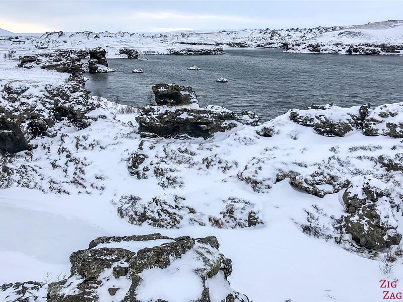driving around Lake Myvatn in Winter 3