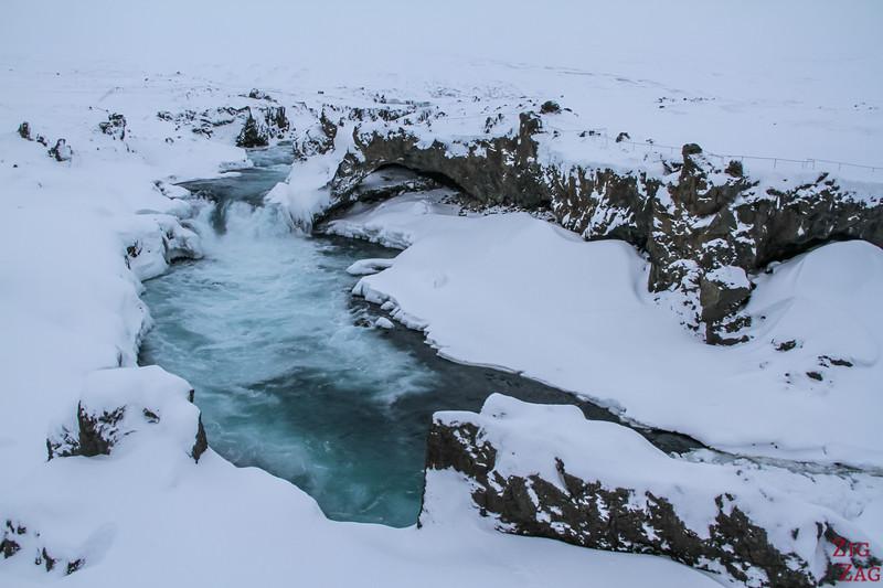 waterfall of Geitafoss Winter