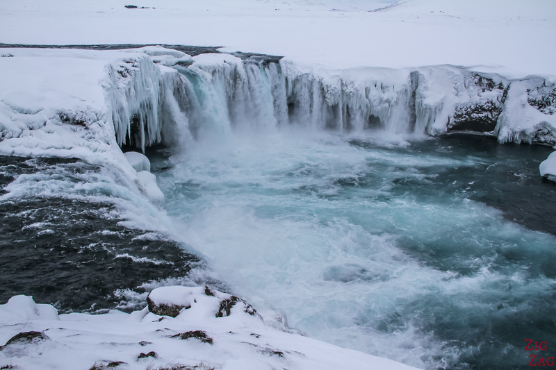 Waterfall Godafoss in Winter photo 5