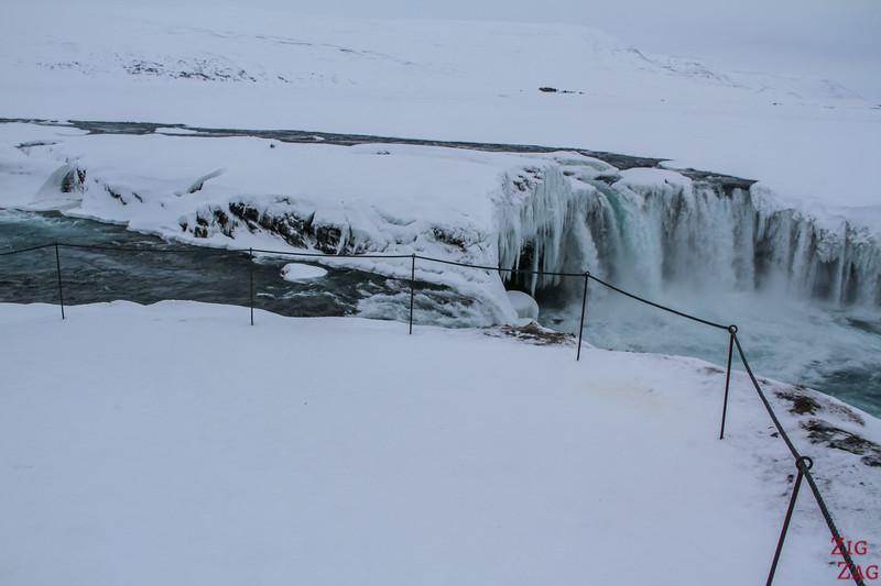 Waterfall Godafoss in Winter photo 4
