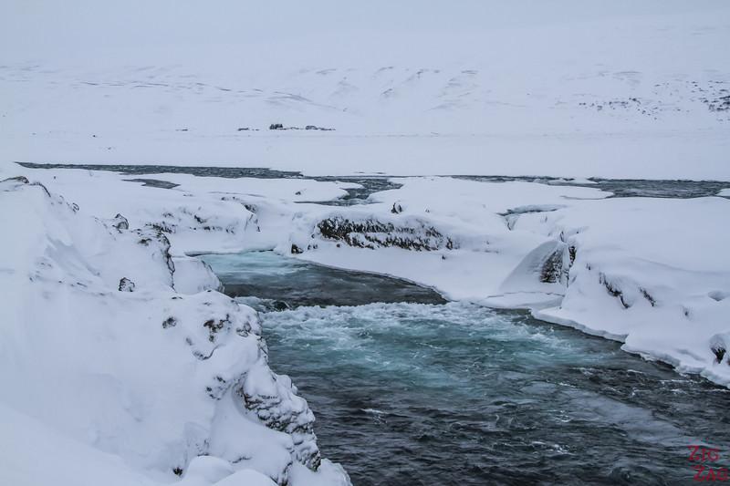 Waterfall Godafoss in Winter photo 7