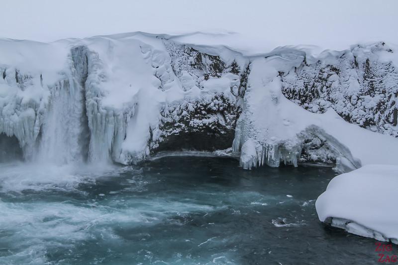 Waterfall Godafoss in Winter photo 9