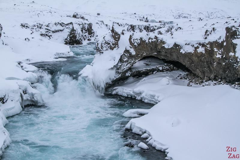 waterfall of Geitafoss Winter 2