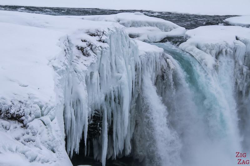 Waterfall Godafoss in Winter photo 8