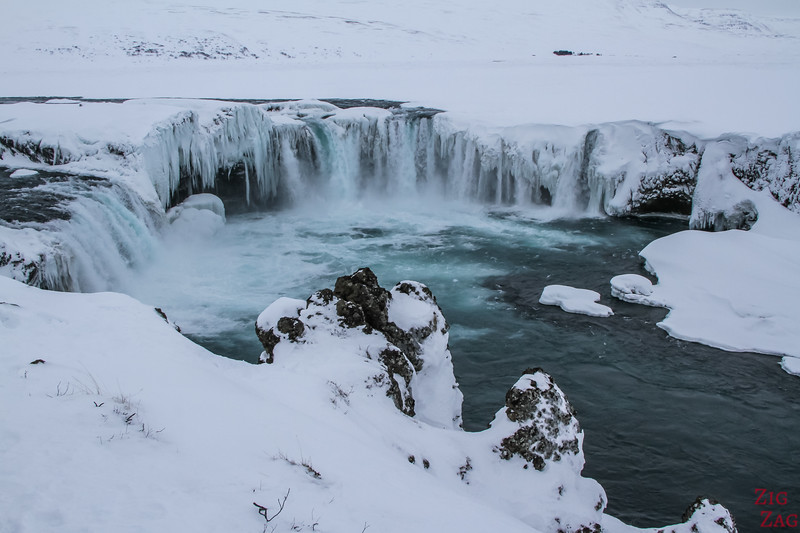 Waterfall Godafoss in Winter photo 1