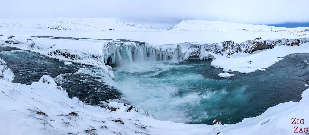 Waterfall Godafoss in Winter photo 6