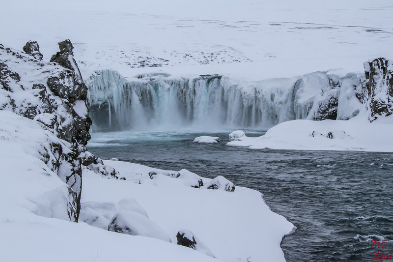 waterfall Godafoss River Skjalfandafljot