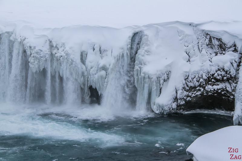 Waterfall Godafoss in Winter photo 3