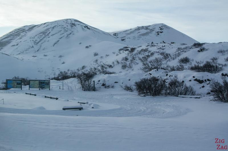 Grabrok crater in Winter