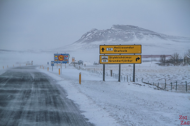 Snaefellsnes - Winter driving conditions