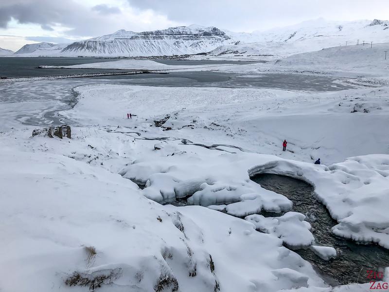 Kirkjufell bridge view in Winter 1