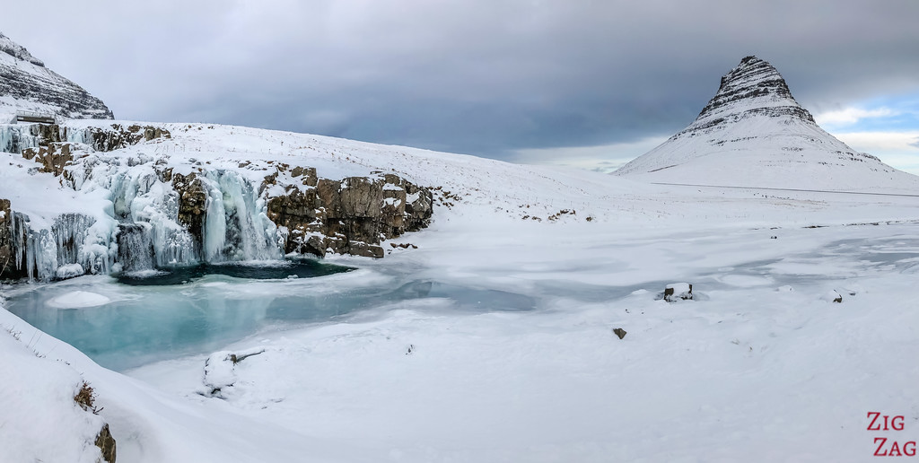 Kirkjufellsfoss in Winter 2